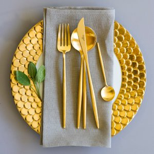 CutipolBuy Cutipol Moon Matt Gold Flatware Set - 24 Piece | Amara