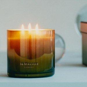 任意单送Q香9ml(价值$27)Jo Malone 混搭香味高段位玩家 收渐变香薰蜡烛、秘密花园系列