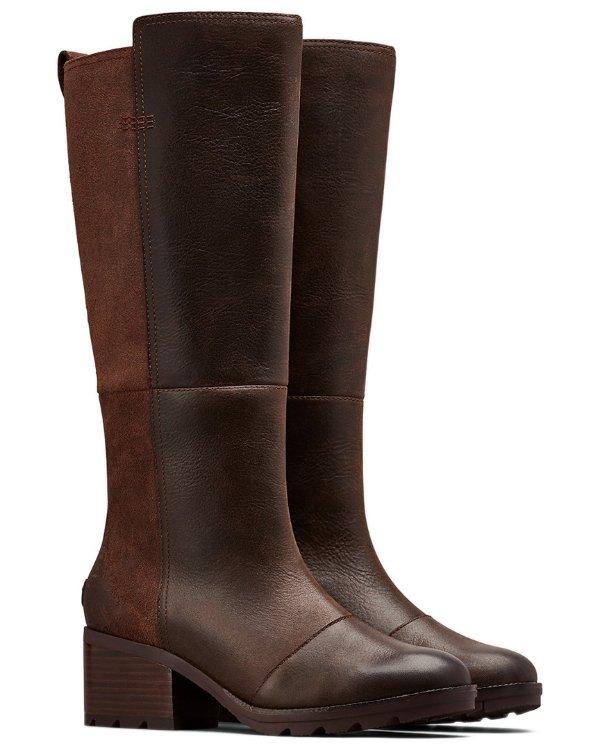 Cate 低跟中筒靴