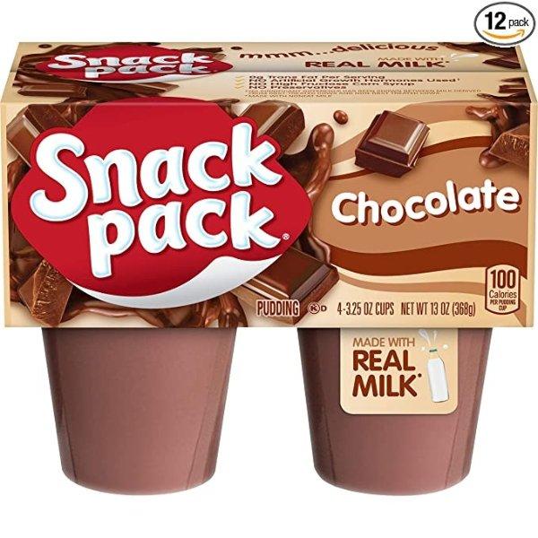 Snack Pack 巧克力布丁家庭装 共48杯