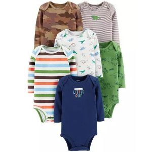 Carter's6-Pack Dinosaur Original Bodysuits