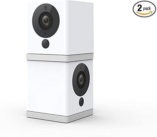 室内无线夜视智能监控摄像头 2支装