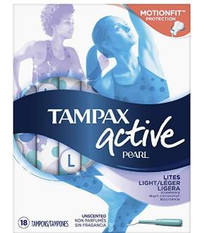$2.79(原价$4.99)Tampax 珍珠系列 卫生棉条18支装 量少无香型