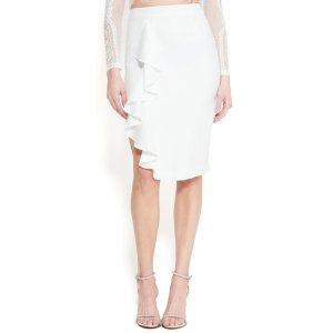 BebeHigh Slit Ruffle Skirt