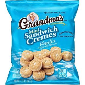 $20.89Grandma's Sandwich Cookies, Vanilla Creme Minis, 2.12 Ounce (Pack of 60)