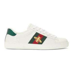 Gucci- White Bee New Ace Sneakers