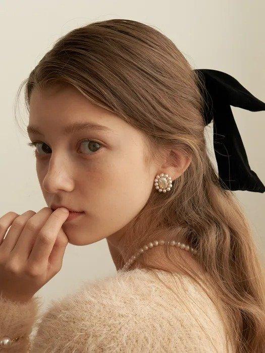 复古珍珠耳钉