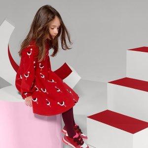 低至5折 €32收新年小红裙Jacadi官网 新年大促 优雅经典的法国高档童装 明星宝宝最爱