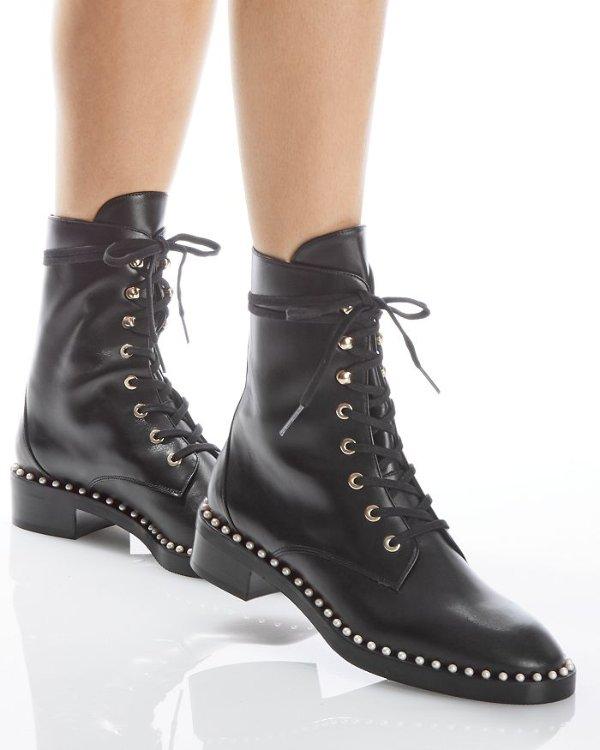 Sondra 珍珠马丁靴