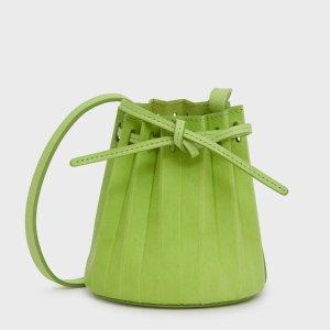 Mansur Gavriel绿色baby百褶水桶包
