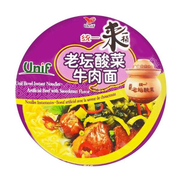 统一 来一桶 老坛酸菜牛肉面 125g