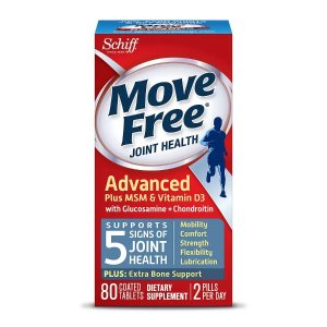 Move FreeBuy 1 Get 1 FreeSchiff Move Free Joint Health Glucosamine Chondroitin Plus MSM & Vitamin D3, Tablets