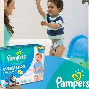 $15.99(原价$29.97)Pampers Easy Ups 幼儿拉拉裤超值装,男宝宝款2T-3T (尺寸4), 80片