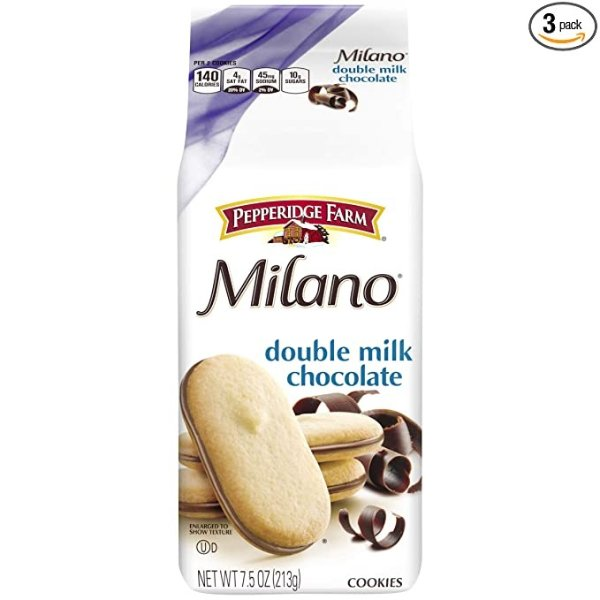 Milano 双层牛奶巧克力夹心饼干 3袋装
