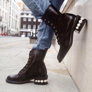 低至4折+叠85折 £153收平底鞋Nicholas Kirkwood 惊喜独家大促 珍珠优雅、水钻仙女等你来
