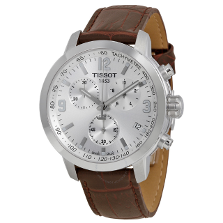 Extra $80 OffTISSOT PRC 200 Chronograph Brown Leather Men's Watch