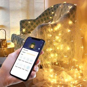 $6.3起独家:MINGER RGB5全彩色铜丝灯串,可用app控制