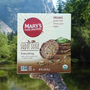 $4.13+包邮 健康管饱Mary's Gone 有机植物蛋白种子饼干 5.5oz
