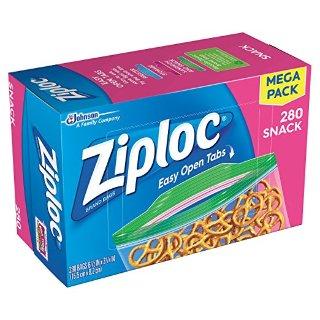 $7.37Ziploc Snack Bags, 280 Count @ Amazon