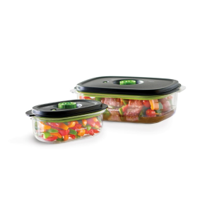 FoodSaver® Preserve & Marinate Vacuum Containers, 3-Cup and 10-Cup Set | Foodsaver