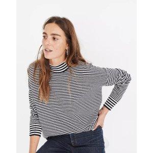 MadewellStripe-Mix Ashbury Mockneck Sweater