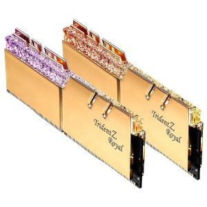 $152.99 绝版B-Die皇家鸡G.SKILL Trident Z Royal 16GB (2 x 8GB) DDR4 3600 C16 套装