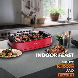 $125.78 (原价 $147.98)Techwood 家用无烟电烧烤炉 室内烧烤聚餐必备