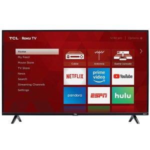 $199.99 (原价$249.99)TCL 49S325 49吋 1080P Roku 智能电视 2019款
