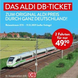 €49.9德国境内往返/2程Aldi 特价火车票!25欧游德国 仅9.20-9.25 DB官网兑换码