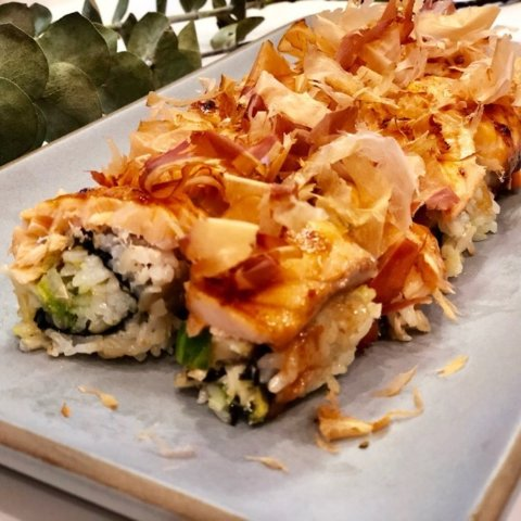 Homemade Recipe of SeafoodDelicious Toasted Salmon Roll