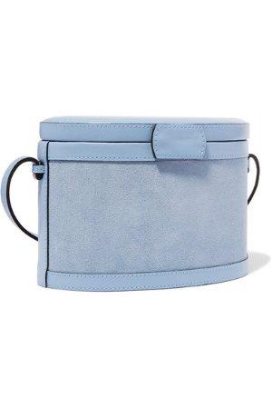 Hunting Season | Trunk suede and leather shoulder bag | NET-A-PORTER.COM