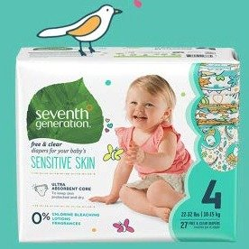 Extra 30% OffSeventh Generation Baby Diapers @ Amazon