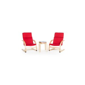 Free Standard ShippingHome Accents Kiddie Rocker Chairs and Table (Set of 3)
