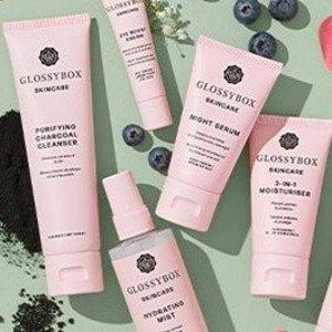 线上7折 或 2件€30新品上市:GlossyBox 护肤系列开售 高性价比+高颜值包装