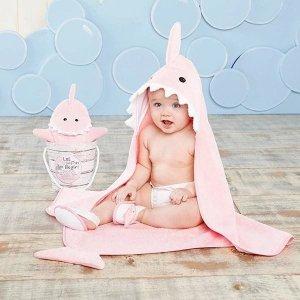 Baby Aspen小鲨鱼4件套装礼盒 粉色