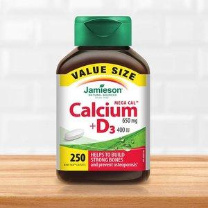 $9.49(原价$18.77)Jamieson 健美生 超级钙+维生素D3复合片 250粒