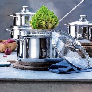 €28.99起 不同尺寸带锅盖WMF Diadem Plus 不锈钢煮锅 防锈防刮 洗碗机适用 一人食正好
