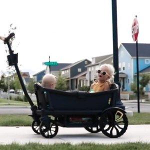 赠送价值$99防风防水儿童毯即将截止:Veer Cruiser 全地形手推/拉童车 拖车界的劳斯莱斯