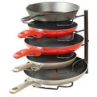 SimpleHouseware 厨柜锅具储物架 可竖放可横放