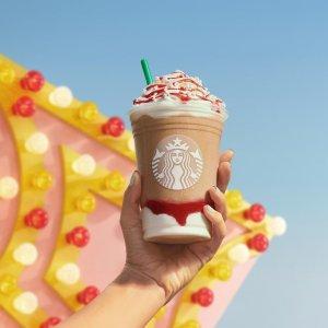 独角兽棒棒糖 每个$2.25上新:Starbucks 夏日怀旧风 草莓漏斗蛋糕星冰乐 大杯$5.25