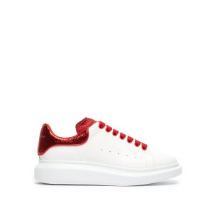 Alexander McQueenRaised-sole low-top leather trainers
