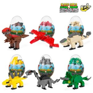 Best Choice Products12-Piece 6-in-1 Kids Dinosaur Building Brick Set - Multicolor