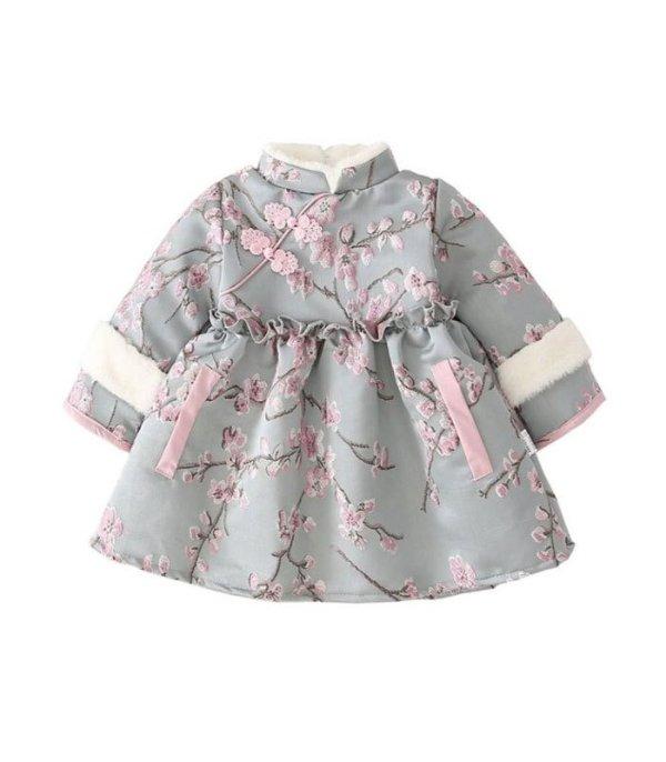 新生兒 小童中國風旗袍領洋裝 - 1 piece   MYHUO Sundries 買貨小東西