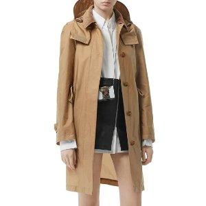 BurberryBuy 3 sale items, get this one $370Taffeta Corduroy-Collar Rain Coat, Beige