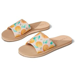 TomsPal Pink Sunkissed Oranges Carly Womens Slide Sandal | TOMS