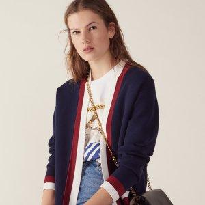 收网红款针织衫Sandro Paris官网 女士春夏新款美衣热卖