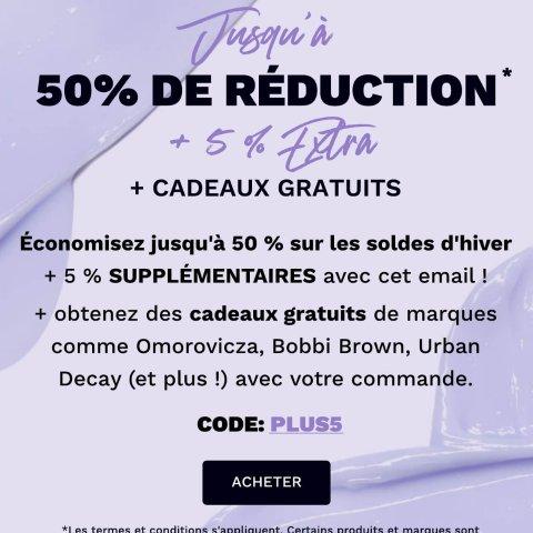 低至5折+额外9.5折法国打折季2021:Lookfantastic 畅销产品大促 收NARS、雅诗兰黛、Bobbi Brown等