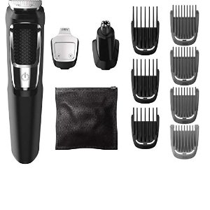 $12.74 Philips Norelco Multi Groomer MG3750/50 - 13 piece, beard, face, nose, and ear hair trimmer and clipper, FFP
