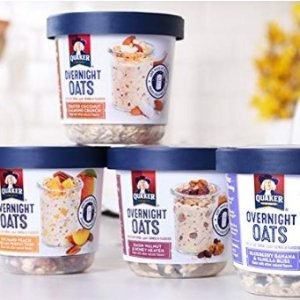 $13.99Quaker Overnight Oats Variety Pack Breakfast Cereal 12 Cups