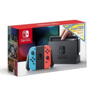 $277.99(原价$299.99)Nintendo Switch 32GB 红蓝版 + $35 eShop 礼卡